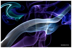 hand colored ribbons of smoke